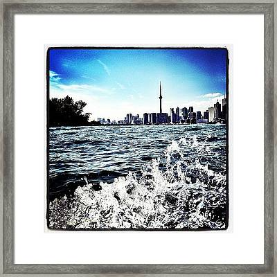 Cn Tower Series: Lake Splash Framed Print