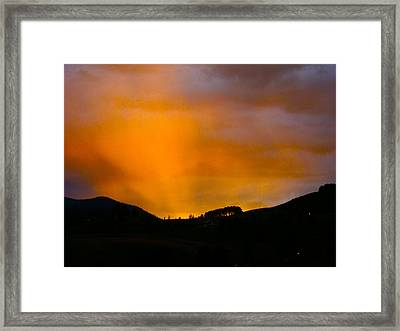 Co Alpenglow Framed Print