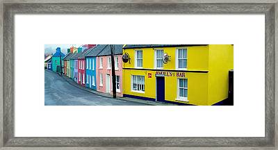 Co Cork, Eyeries Village In The Rain Framed Print