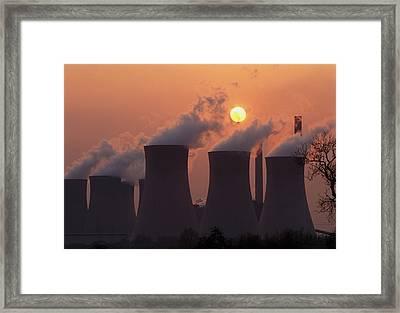 Coal-fired Power Station In Nottinghamshire Framed Print