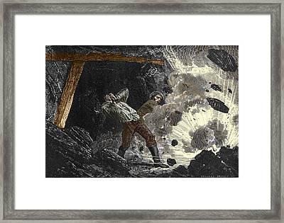 Coal Mine Explosion, 19th Century Framed Print
