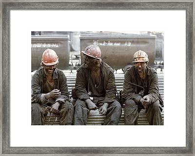 Coal Miners Framed Print by Ria Novosti