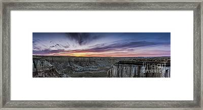 Coalmine Canyon Panoramic Sunset Cropped Framed Print