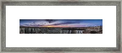 Coalmine Canyon Panoramic Sunset Framed Print