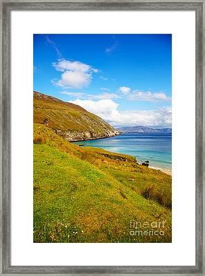 Coast At Keem Bay On Achill Island Framed Print by Gabriela Insuratelu