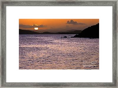 Coast Guard Beach Sunset Framed Print by Thomas R Fletcher