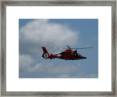 Coast Guard Rescue By Air Framed Print