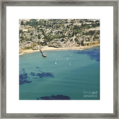 Coastal Community And Sailboats Framed Print by Eddy Joaquim