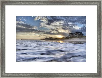 Coastal Currents Framed Print by Betsy Knapp