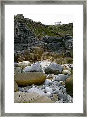 Coastal Erosion Framed Print