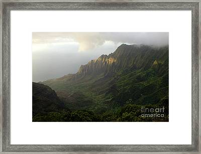 Coastal Mountains Kauai Framed Print by Bob Christopher
