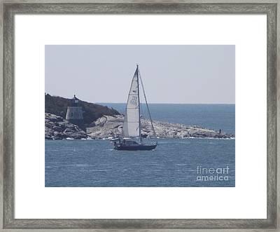 Coastal Newport Ri  Framed Print