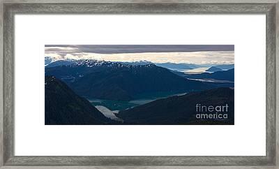 Coastal Range Fjords Framed Print by Mike Reid
