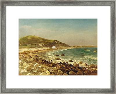 Coastal Scene Framed Print by Albert Bierstadt