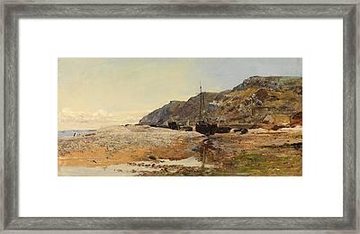 Coastal Scene Framed Print by Henry Moore