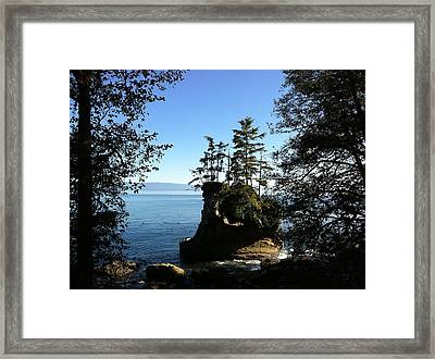Coastal Seastack Framed Print