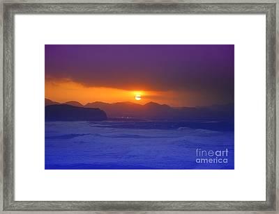 Coastal Sunset Framed Print by Gaspar Avila