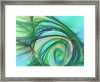 Coastal Wave Framed Print by Betsy Knapp