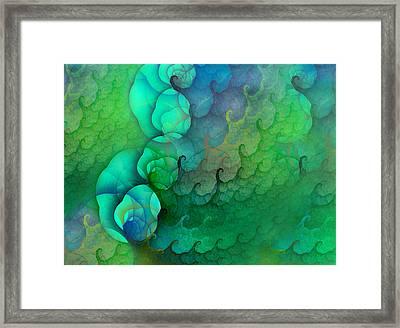 Coastal Waves Framed Print by Betsy Knapp