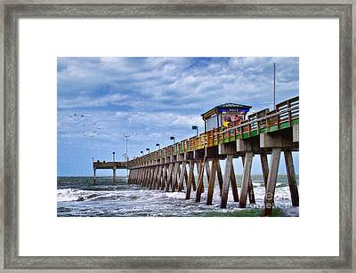 Framed Print featuring the photograph Coastal Waves by Gina Cormier