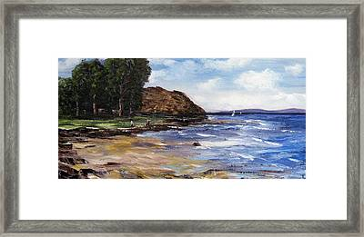 Coastel View Framed Print