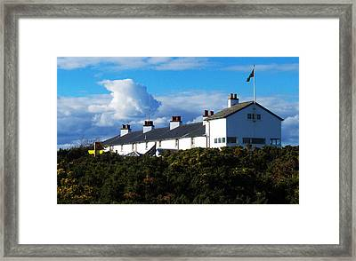 Coastguard Cottages Dunwich Heath Suffolk Framed Print by Darren Burroughs
