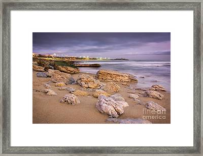 Coastline At Twilight Framed Print by Carlos Caetano