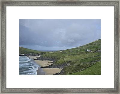 Framed Print featuring the photograph Coastline  by Hugh Smith
