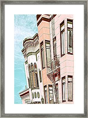 Coat In The Window Framed Print
