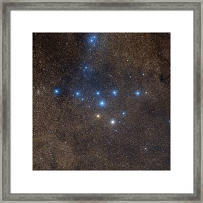 Coathanger Star Cluster Framed Print by Celestial Image Co.