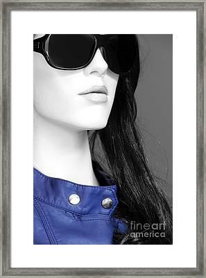 Cobalt Blues Framed Print by Sophie Vigneault
