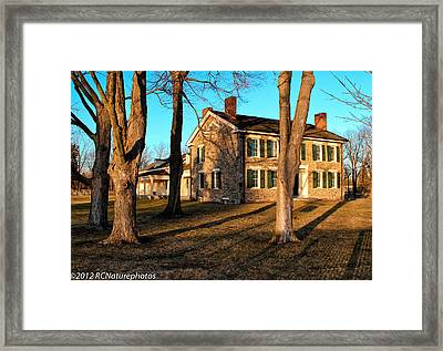 Framed Print featuring the photograph Cobblestone And Long Shadows by Rachel Cohen