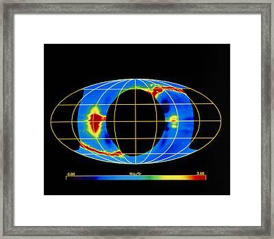 Cobe Observation Of Dust Ring In Earth's Orbit Framed Print by W.t.reachnasa Gsfc