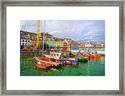 Cobh Town In Ireland Framed Print by Artur Bogacki