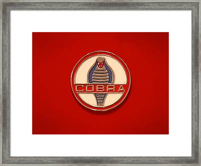 Cobra Emblem Framed Print by Mike McGlothlen