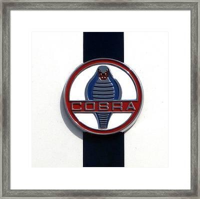 Cobra Insignia Framed Print by Karyn Robinson