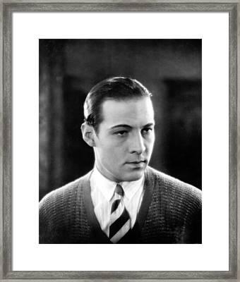 Cobra, Rudolph Valentino, 1925 Framed Print