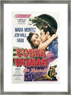Cobra Woman, Maria Montez, Jon Hall Framed Print