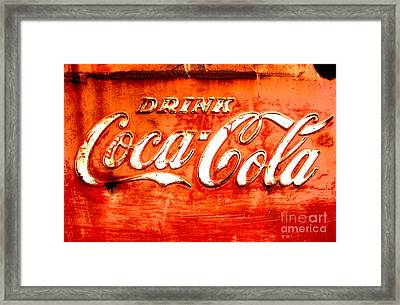 Framed Print featuring the photograph Coca Cola by Amy Sorrell