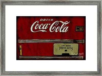 Coca Cola Vending Machine Framed Print
