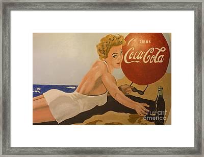 Coca Cola  Vintage Sign Framed Print by Bob Christopher