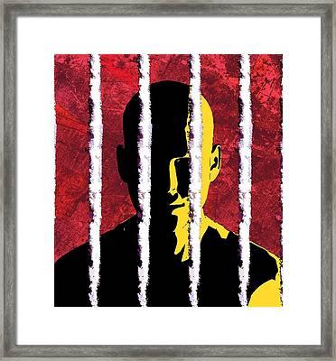 Cocaine Addiction, Conceptual Artwork Framed Print