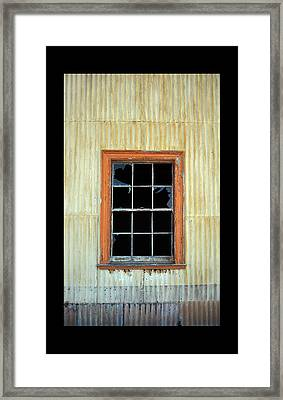 Cocina Window Border 2 Framed Print