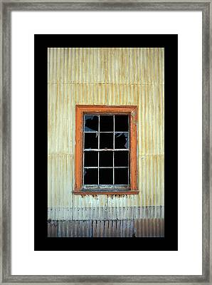 Cocina Window Border Framed Print