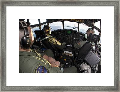 Cockpit Of A Mc-130p Combat Shadow Framed Print by Gert Kromhout