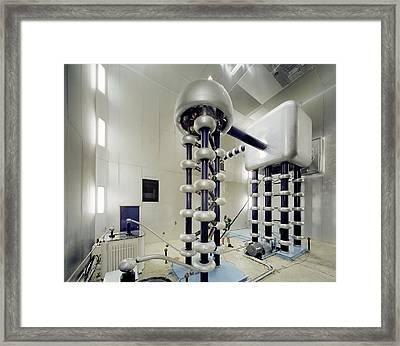 Cockroft-walton Generator, Fermilab Framed Print by David Parker
