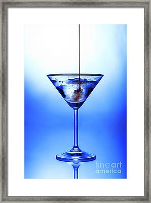 Cocktail Being Poured Framed Print
