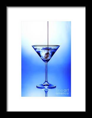 Blue Glass Framed Prints