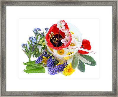 Framed Print featuring the photograph Cocktail From May Flowers by Aleksandr Volkov
