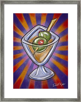 Cocktail With Olives  Framed Print by David Kyte